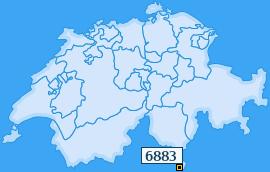 PLZ 6883 Schweiz