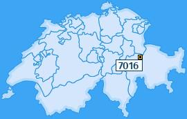 PLZ 7016 Schweiz