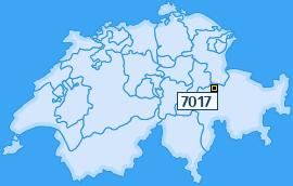 PLZ 7017 Schweiz