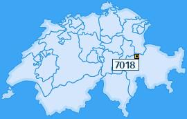 PLZ 7018 Schweiz