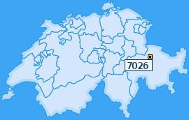 PLZ 7026 Schweiz
