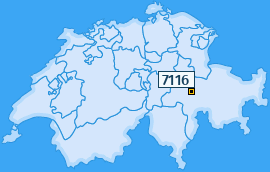 PLZ 7116 Schweiz