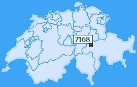 PLZ 7168 Schweiz