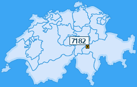PLZ 7182 Schweiz