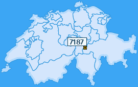 PLZ 7187 Schweiz
