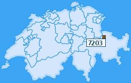 PLZ 7203 Schweiz