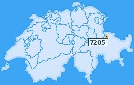 PLZ 7205 Schweiz