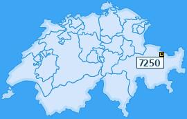 PLZ 7250 Schweiz