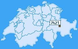 PLZ 7421 Schweiz