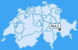 PLZ 7443 Schweiz