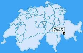 PLZ 7445 Schweiz