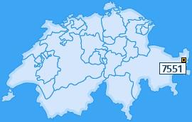 PLZ 7551 Schweiz