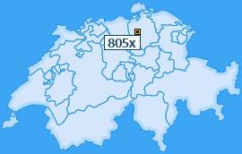 PLZ 805 Schweiz