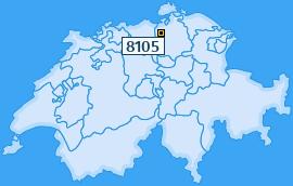 PLZ 8105 Schweiz