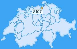 PLZ 8107 Schweiz