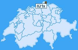 PLZ 821 Schweiz