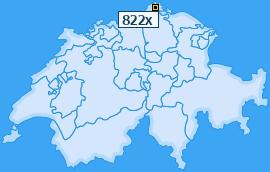 PLZ 822 Schweiz
