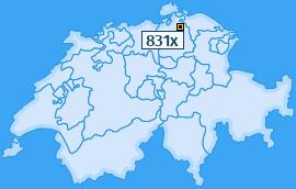 PLZ 831 Schweiz