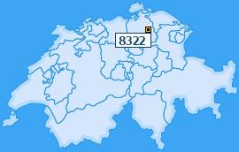 PLZ 8322 Schweiz
