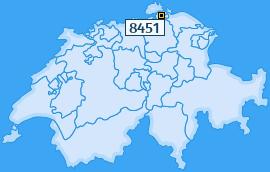 PLZ 8451 Schweiz