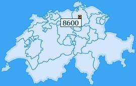 PLZ 8600 Schweiz