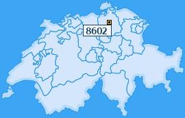 PLZ 8602 Schweiz