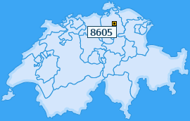 PLZ 8605 Schweiz