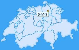PLZ 8610 Schweiz