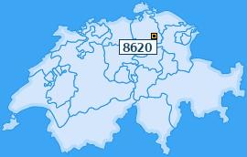 PLZ 8620 Schweiz