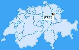 PLZ 8722 Schweiz