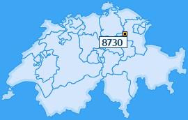 PLZ 8730 Schweiz