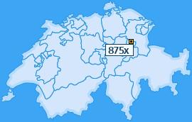 PLZ 875 Schweiz