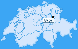 PLZ 8757 Schweiz