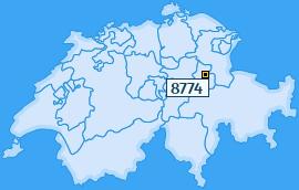 PLZ 8774 Schweiz