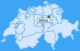 PLZ 884 Schweiz