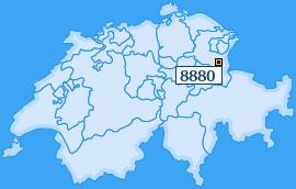 PLZ 8880 Schweiz