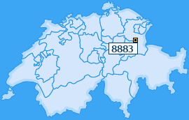 PLZ 8883 Schweiz
