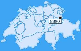 PLZ 8890 Schweiz
