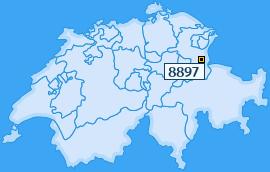 PLZ 8897 Schweiz