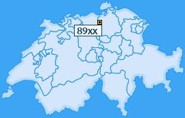 PLZ 89 Schweiz