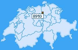 PLZ 8910 Schweiz