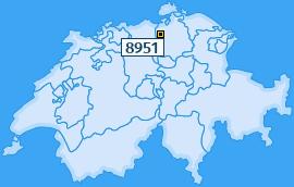 PLZ 8951 Schweiz