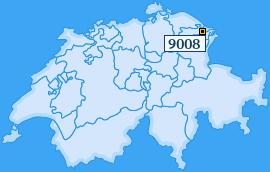 PLZ 9008 Schweiz