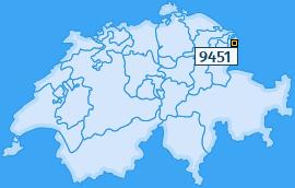 PLZ 9451 Schweiz