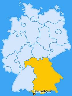 Kreis Oberallgäu Landkarte