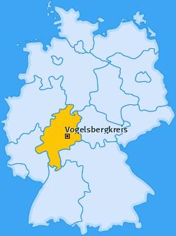 Kreis Vogelsbergkreis Landkarte