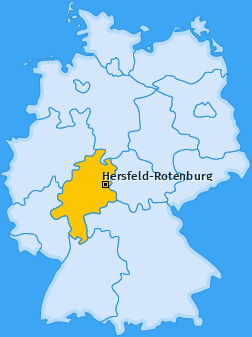 Landkreis Hersfeld-Rotenburg Landkarte
