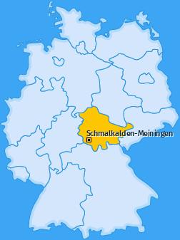 Kreis Schmalkalden-Meiningen Landkarte
