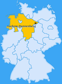 Kreis Lüchow-Dannenberg Landkarte