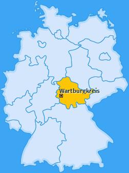Kreis Wartburgkreis Landkarte